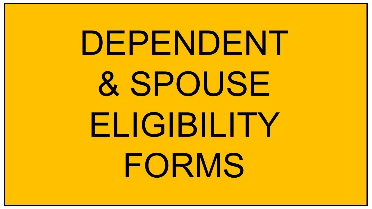Dep-Spouse-Eligibility-Forms